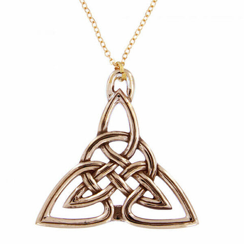 ST JUSTIN BRONZE - TRIANGLE - CELTIC KNOT