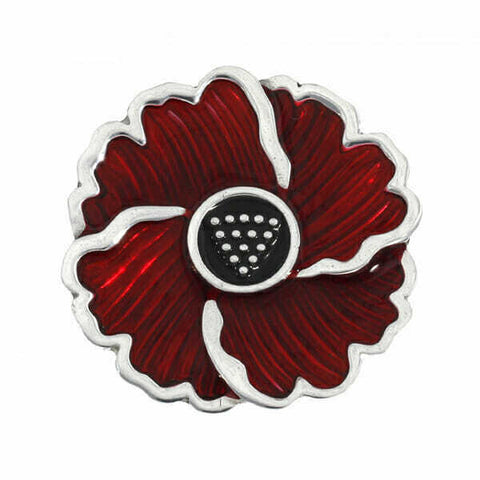 ST JUSTIN PEWTER - Cornish Poppy Brooch