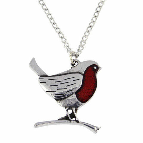 ST JUSTIN PEWTER - ROBIN PENDANT