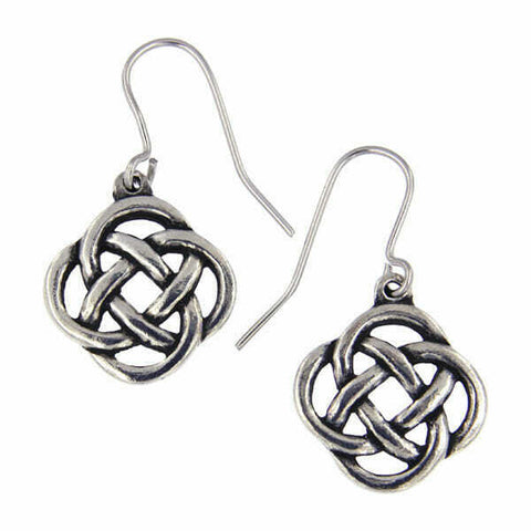 ST JUSTIN PEWTER - Square Knot - Drop earrings