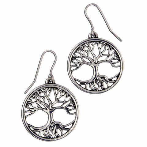 ST JUSTIN PEWTER - TREE OF LIFE - Drop earrings