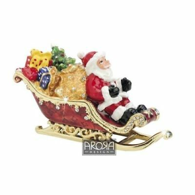 Arora Design Craycombe Sleigh with Presents and Santa Trinket Box