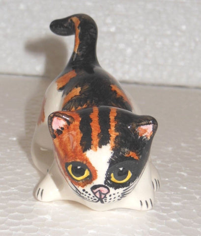 "Babbacombe Pottery – ""Small Calico Kitten with Tail raised"""