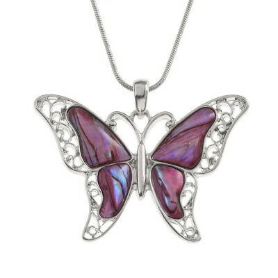 TIDE FASHION JEWELLERY - PURPLE BUTTERFLY NECKLACE