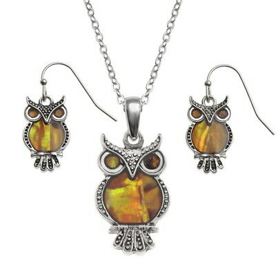 TIDE FASHION JEWELLERY - OWL - NECKLACE + EARRING SET