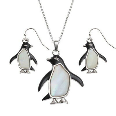 TIDE FASHION JEWELLERY - Penguin - NECKLACE + EARRING SET