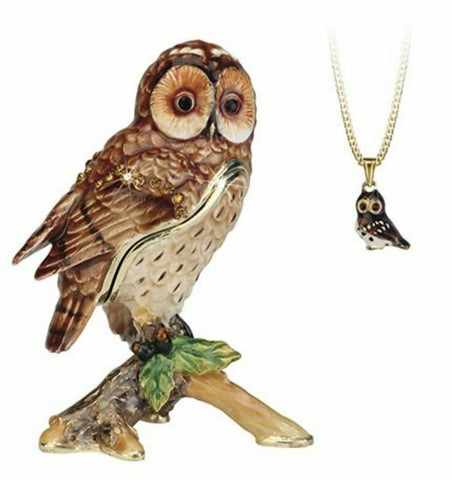 Arora Design Trinket Box Hidden Secrets Tawny Owl