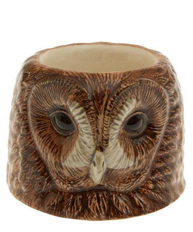 Tawny Owl Face Egg Cup from Quail Ceramics