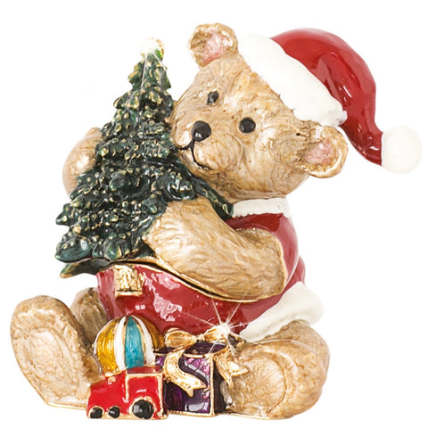 Arora Design: Trinket Box: Craycombe Trinket – Teddy with Present