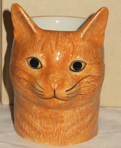 Quail Ceramics: Pencil Pot: Cat: Vincent