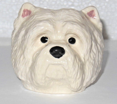 Westie Face Egg Cup from Quail Ceramics