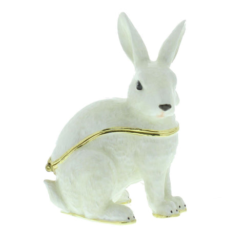 Juliana: Trinket Box: Treasured Trinkets: White Rabbit Sitting