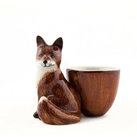 Quail Ceramics; Egg Cup With Fox
