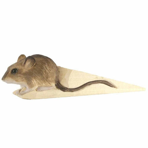 Wildlife Garden: Doorstop: Wood With Mouse
