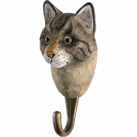 WILDLIFE GARDEN - Hand Carved Hook House Cat