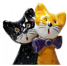 Pair of Pottery Cats - Jasper and Byron