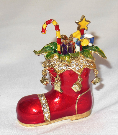 Christmas Boot Trinket Box