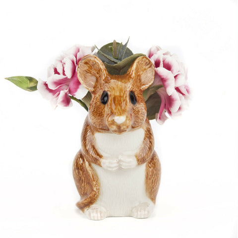 Quail Ceramics Bud Vase A Wood Mouse