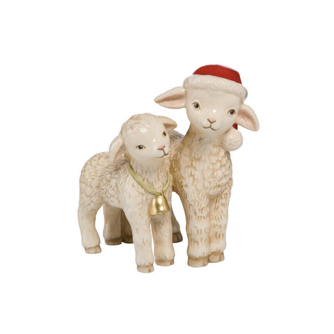 GOEBEL- CHRISTMAS FRIENDS - PAIR OF SHEEP