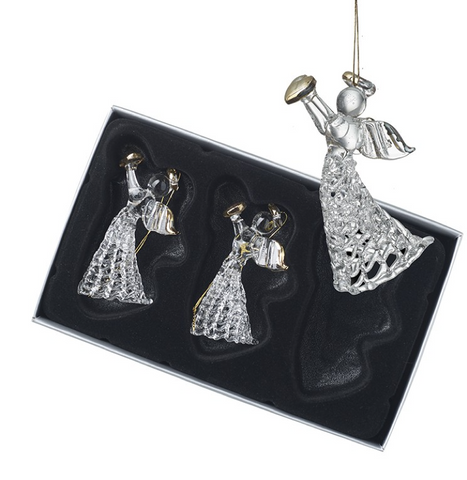 Heaven Sends Hanging Ornaments Set Of 3 Angels