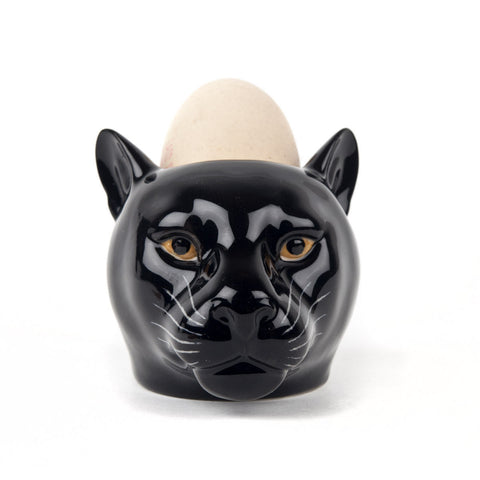 Black Panther Face Egg Cup from Quail Ceramics
