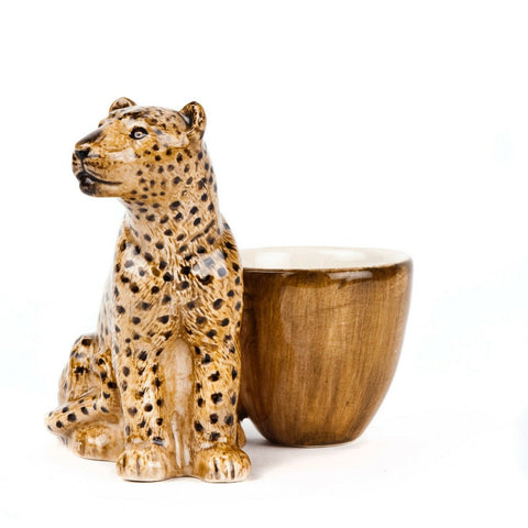 Quail Ceramics: Egg Cup with Leopard
