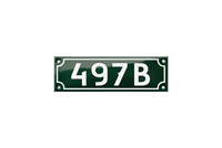 497B house number plate