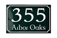 VOSBORG ADDRESS PLAQUE porcelain enamel sign