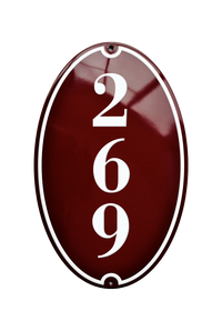 MEILGAARD HOUSE NUMBER porcelain enamel sign