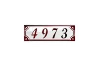 AUGUSTENBORG HOUSE NUMBER porcelain enamel sign