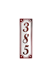 RIBERHUS HOUSE NUMBER porcelain enamel sign