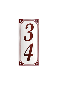 HAMMERSHUS HOUSE NUMBER porcelain enamel sign