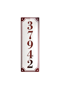 FRYDENLUND HOUSE NUMBER porcelain enamel sign