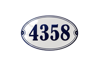 HAVREHOLM HOUSE NUMBER porcelain enamel sign