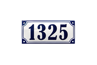 AMALIENBORG HOUSE NUMBER porcelain enamel sign