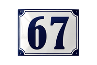 MARSELISBORG HOUSE NUMBER porcelain enamel sign