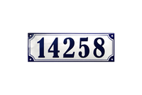 KALUNDBORG HOUSE NUMBER porcelain enamel sign