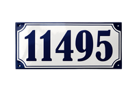 SILKEBORG HOUSE NUMBER porcelain enamel sign