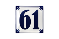 VORDINGBORG HOUSE NUMBER porcelain enamel sign