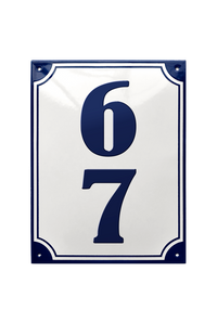 TISELHOLT HOUSE NUMBER porcelain enamel sign