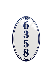 KRENGERUP HOUSE NUMBER porcelain enamel sign