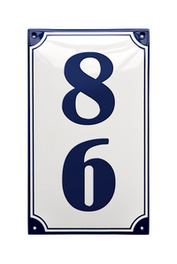 ROSENHOLM HOUSE NUMBER porcelain enamel sign