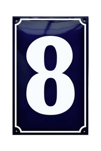 BERNSTORFF HOUSE NUMBER porcelain enamel sign