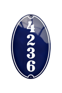 ENGELSBORG HOUSE NUMBER porcelain enamel sign