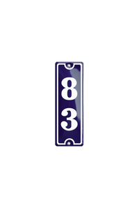GISSELFELD HOUSE NUMBER porcelain enamel sign