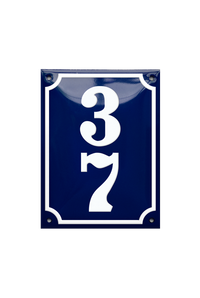 MARIELYST HOUSE NUMBER porcelain enamel sign