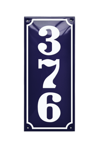 BORGVOLD HOUSE NUMBER porcelain enamel sign