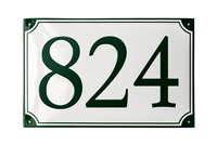 VOSBORG HOUSE NUMBER porcelain enamel sign
