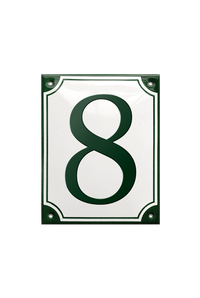 HINDSGAVL HOUSE NUMBER porcelain enamel sign