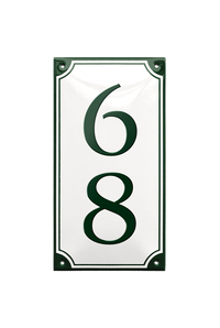 NORLUND HOUSE NUMBER porcelain enamel sign